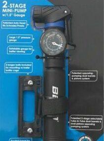 משאבה לאופניים BETO - 030PG עם שעון - מתאים גם לאופני כביש